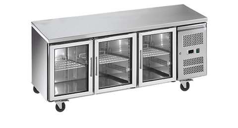 EXQUISITE Under Bench Chillers with Glass Doors 465L