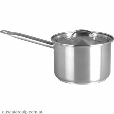 Chef Inox SAUCEPAN-18/10 3.0lt 180x120mm w/LID  ELITE
