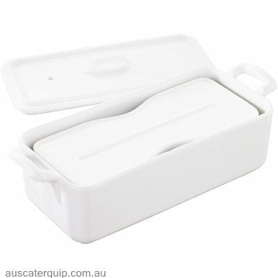 Revol REVOL BELLE CUISINE RECTANGLE TERRINE W/COVER 600ml WHT