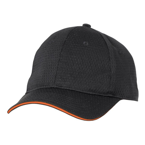 Orange Cool Vent Baseball Cap w/ Trim