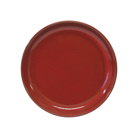 tablekraft ARTISTICA ROUND PLATE-240mm Rolled Edge  REACTIVE RED