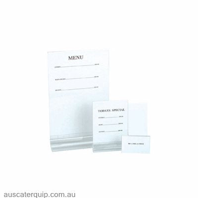 MENU HOLDER- P.V.C ON STAND TO HOLD MENU 120x150mm
