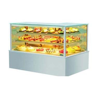 GREENLINE REFRIGERATED L SHAPE Square Glass CORNER CAKE Display 2.4m W