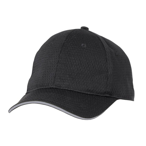 Grey Cool Vent Baseball Cap w/ Trim
