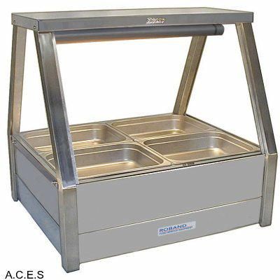ROBAND COLD FOOD DISPLAY BARS DOUBLE ROW - 4 Pans