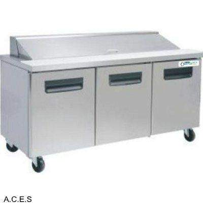 GREENLINE MEGA PREPARATION BENCH REFRIGERATION 3 Door