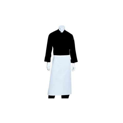 White 3/4 Bar Apron