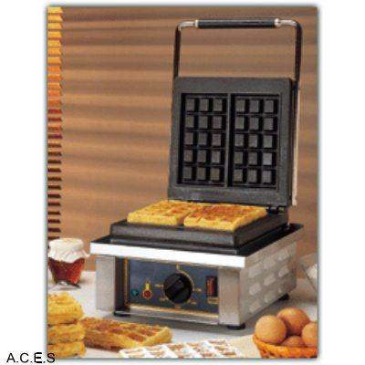 ROLLER GRILL Waffle Machine - Double Cast Iron Plates - Brussels