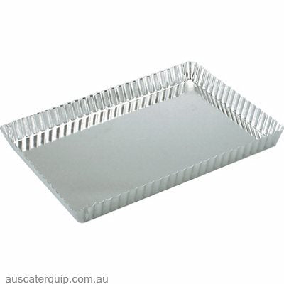 Guery QUICHE PAN-RECTANGULAR FLUTED 300x210x25mm LOOSE BASE
