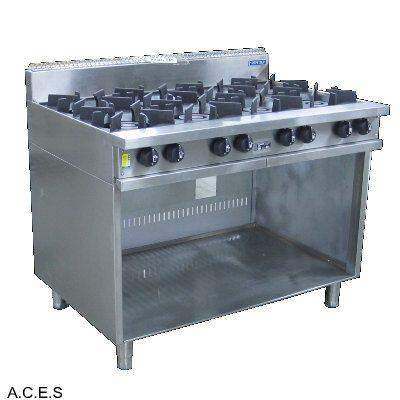 SHEFFIELD 8 BURNER BOILING TABLE