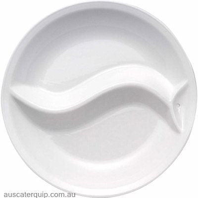 Hyperlux CERAMIC INSERT FOR ROUND SERVER 38cm 2 DIV YING/YANG