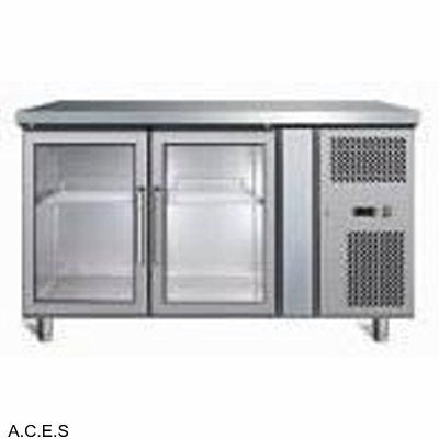 GREENLINE Bench Refrigeration 700 Deep (2 Heated Glass Doors)