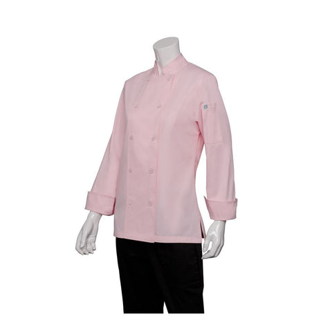 Marbella Womens Pink Executive Chef Jacket