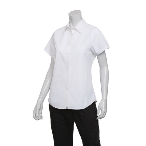 Female White Universal Contrast Shirt