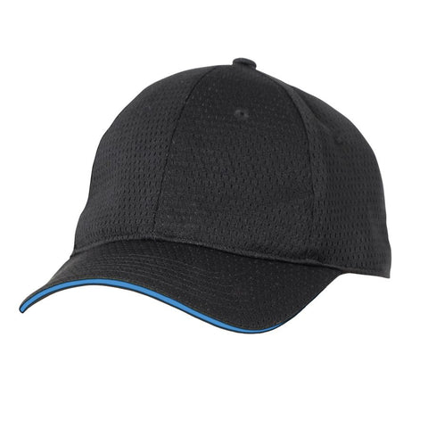 Blue Cool Vent Baseball Cap w/ Trim