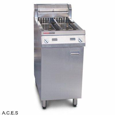 AUSTHEAT 800 SERIES TWIN TANK FRYER - WITH TWO BASKETS