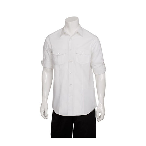 Men's White Two Pocket Shirt