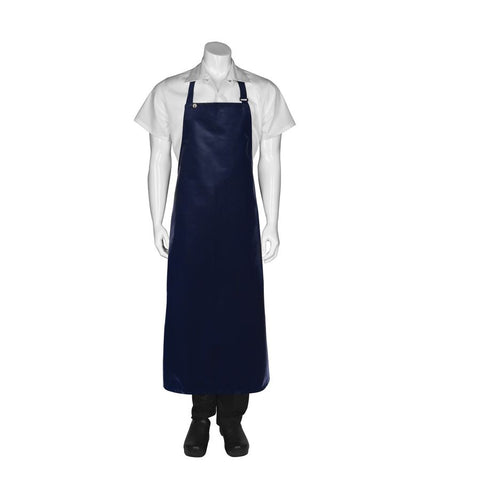 Navy Long PVC Bib Apron