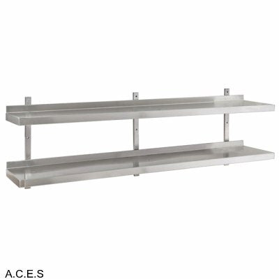 JEMI Double Tier Solid Wall Shelf - 1.0mm 1800mm wide
