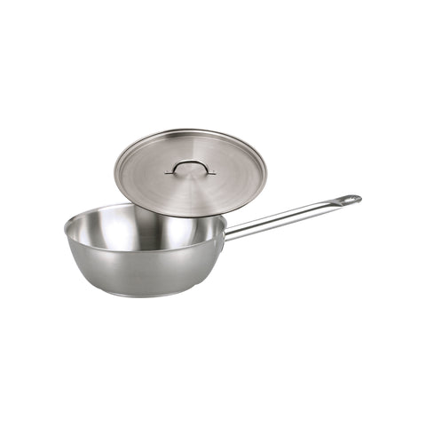 Chef inox SAUTE PAN-18/10 280x95mm w/LID ELITE