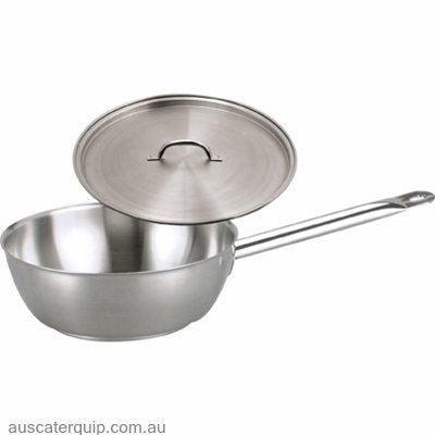 Chef inox SAUTE PAN-18/10 240x85mm w/LID ELITE