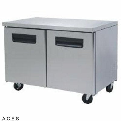 GREENLINE COMPACT BENCH REFRIGERATOR 2 Door 1.2M