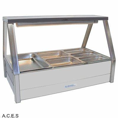 ROBAND COLD FOOD DISPLAY BARS DOUBLE ROW - 6 Pans