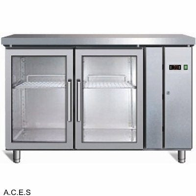 GREENLINE Remote Bench Refrigeration (2 Solid Doors  282L)