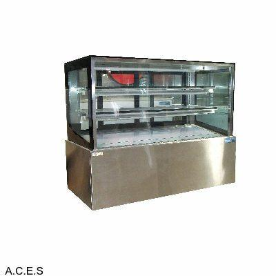 MITCHEL BLACK 1500mm straight glass cold cake display