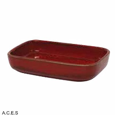 tablekraft ARTISTICA RECTANGULAR DISH 170x105x40mm REACTIVE RED