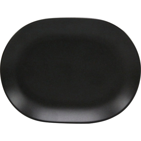 Rene Ozorio OVAL PLATTER-157mm AURA, MATT BLACK (434815)