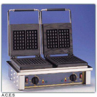 ROLLER GRILL Waffle Machine - Double Cast Iron Plates - Liege