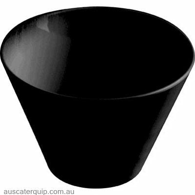 JAB CONICAL BOWL BLACK 85x50mm (STS0953)