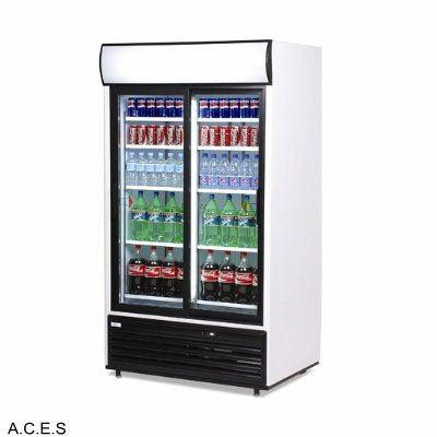 BROMIC Display Fridge with light box, 2 Sliding Doors-875L
