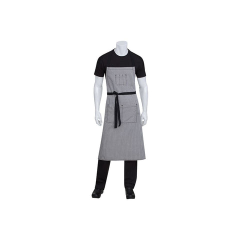 Portland Black Denim Adjustable Bib Apron