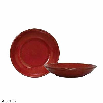 tablekraft ARTISTICA PASTA/SOUP PLATE-210mm RolledEdgeREACTIVE RED
