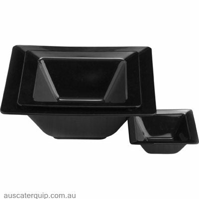 JAB SQUARE BOWL BLACK 205x70mm (STS0444)