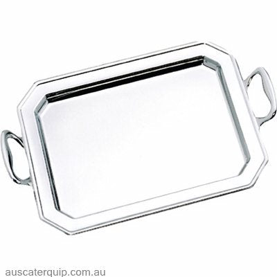 Hyperlux SERVING TRAY-460mm w/HANDLES 18/10 HYPERLUX