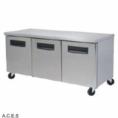 GREENLINE COMPACT BENCH REFRIGERATOR 3 Door
