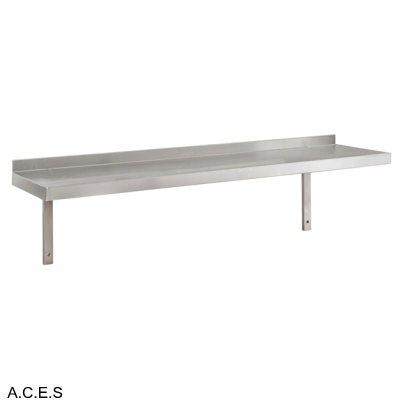 JEMI Single Tier Solid Wall Shelf - 2.0mm 600mm wide