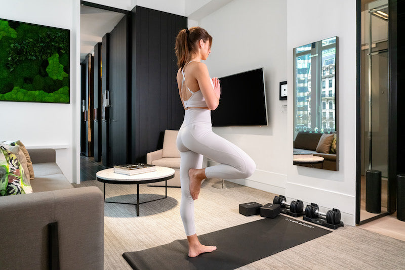Take a yoga class using the Mirror by Lululemon®