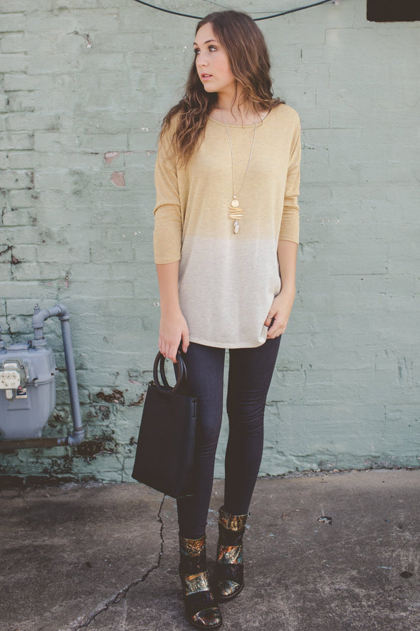 Yellow ombre top