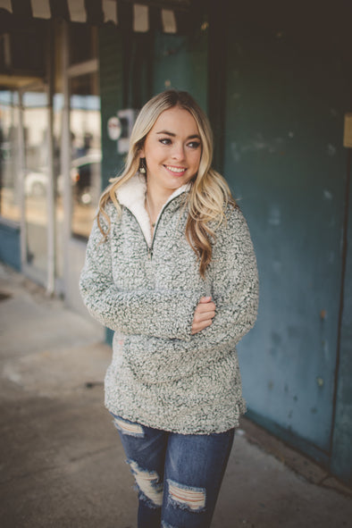 Frosted Cozy Zip Pullover