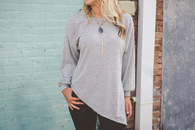 Asymmetrical Gray Top