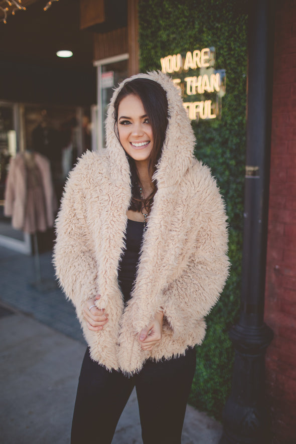 Kendall Waist Length Faux Fur Coat