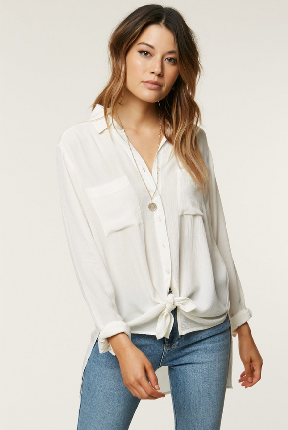 White Button Up Top