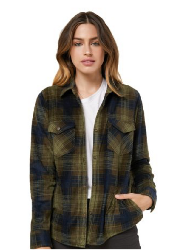 Green Plaid Fleece Flannel