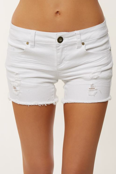 White Denim Short