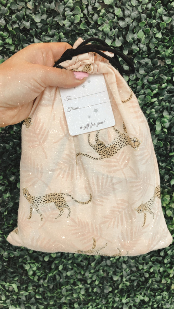 Cheetah Pajama Set with Gift/Travel Bag