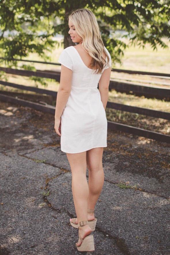 Sammy Sweetheart Tie Front Dress - Online Exclusive